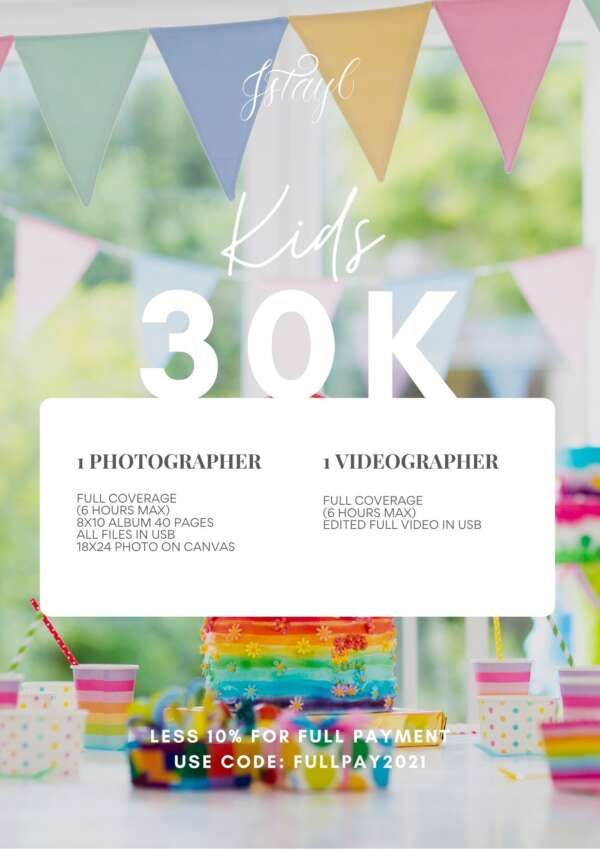 Kids Birthday Photo and Video Package